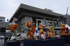 """Seoul Korea Kwanghwamun plaza on May 9th Election Day featuring quirky animal statue bandstand - """"New Zoo Revue"""" (moreska) Tags: seoul korea kwanghwamun may 9 election day snapelection currentevents animals zoo statues quirky kooky oddball architecture structures outdoor plaza 광화문 socialchange democracy capital 대한민국 rok asia"""