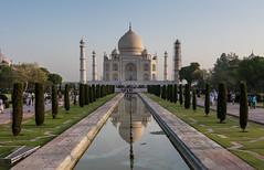 Reflections of Taj Mahal, Agra, India (tr0mbley) Tags: unesco world heritage site tajmahal india agra delhi north reflection pool garden hindu muslim shah jahan mughal emperor