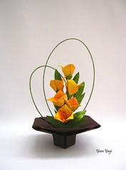 Trying to make a floral arrangement (Yara Yagi) Tags: origami paper papel flor flower