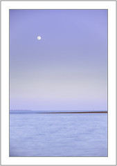 Tranquil. (muddlemaker1967) Tags: hampshire landscape photography seascape moon sunset water hayling island spring 2017 minimalist pastel colours nikon d700 nikkor 70200 f28