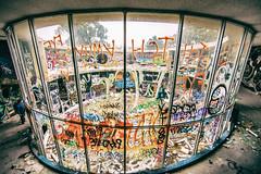 A Different Version of San Francisco (Thomas Hawk) Tags: america california cossonhall sagehall sanfrancisco treasureisland usa unitedstates unitedstatesofamerica westcoast abandoned graffiti fav10 fav25