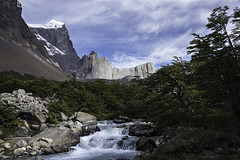 Portál al Paine (courtney_meier (away)) Tags: andes andesdelsur chile chileanandes glacier landscape nationalpark nothofagus patagonia patagonianandes patagonianbeech southernandes torresdelpaine clouds ice mountains stream tree water ríofrancés