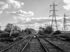 Panorama (Jason_Hood) Tags: disused abandoned railway railroad southstaffordshireline southstaffordshirerailway monochrome blackandwhite
