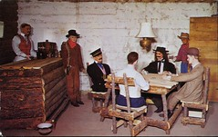 Saloon, Western Heritage Wax Museum (SwellMap) Tags: postcard vintage retro pc chrome 50s 60s sixties fifties roadside midcentury populuxe atomicage nostalgia americana advertising coldwar suburbia consumer babyboomer kitsch spaceage design style googie architecture waxmuseum effigy figurine