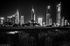 The Park and the City... (EHA73) Tags: summiluxm11424asph leica leicamm typ246 blackandwhite bw alshaheedpark park cityscape kuwait kuwaitcity nightphotography lights night buildings towers skyscrapers