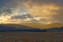 Sunlight through the showers (alan.irons) Tags: cairngorms tullymurdoch glenshee mountains landscape atmospheric sunlight scotland sky cloudsstormssunsetssunrises heathland ecosse farmland trees pine snow scenery scottish