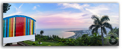 Panoramic View of Kailasagiri Hill overlooking Vizag City and the Beach (FotographyKS!) Tags: panorama panoramic pano kailasagiri hilltop park hill beach architecture forest city height landmark shiva parvati statue travel tourist destination landscape historic metropolis nature outdoors scenics tourism temple religion hindu vacation scene sunset sunrise suburbs sea ocean bayofbengal horizontal nopeople coastline mountain sun clouds cloudscape horizon visakhapatnam vizag andhrapradesh india