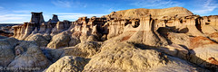 A Beautiful, Unusual and Incredible Land (OJeffrey Photography) Tags: bistibadlands bisti panorama pano ojeffreyphotography sunset golden ojeffrey nm newmexico nikon d800