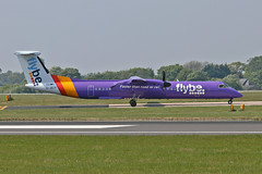 G-JECF DHC-8Q 402 Flybe MAN 11-05-17 (PlanecrazyUK) Tags: egcc manchester man ringway manchesterairport gjecf dhc8q402 flybe 110517