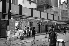 Labour Day (hkteddy) Tags: hongkong wetmarket central holiday renovated stores construction xpro2 fujifilm labourday city urban