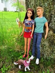 photobombing (flores272) Tags: barbiedoll barbie barbieclothing kendoll outdoors toydog dog livdollpet photobombing baylee