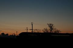 Twilight Train (ngcurly) Tags: 夕景 シルエット 山形新幹線 山形線 奥羽本線 つばさ e3系