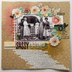 LOAD6 Lovely Sassy Ladies (girl231t) Tags: 2017 load517 load6 paper scrapbook load layout 12x12layout