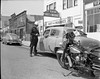 5930 E. 14th Street (International Blvd) Oakland, CA 1956. (Radio Man Mike) Tags: oaklandpolice oaklandpd opd police policemotorcycle oakland
