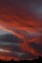 Sunset 4 13 2017 #02 (Az Skies Photography) Tags: sun set sunset dusk twilight nightfall cloud clouds sky skyline skyscape rio rico arizona az riorico rioricoaz arizonasky arizonaskyline arizonaskyscape arizonasunset red salmon black orange canon eos rebel t2i canoneosrebelt2i eosrebelt2i april 13 2017 april132017 41317 4132017