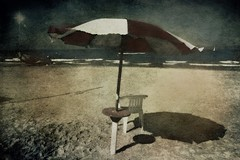 Memories of a spent summer (vittorio.chiampan) Tags: summer beach sea water sand beachumbrella fineart art