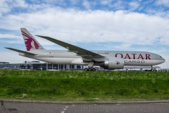 Qatar Cargo / A7-BFG / Boeing 777-200F / EHAM-AMS taxiway Q / © (RVA Aviation Photography (Robin Van Acker)) Tags: schiphol amsterdam airport planes trafic airlines avgeek airliner outdoor airplane aircraft vehicle jetliner jet jumbo air photography aviation avitionphotography