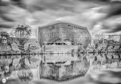 Wetsus B&W (Robert Stienstra Photography) Tags: leeuwarden frieland fryslan cityscape cityscapes longexposure longexposurephotography reclection reflections architecture architectural architecturalphotography buildings canal canals tokina1224mm nikond7100 robertstienstraphotography