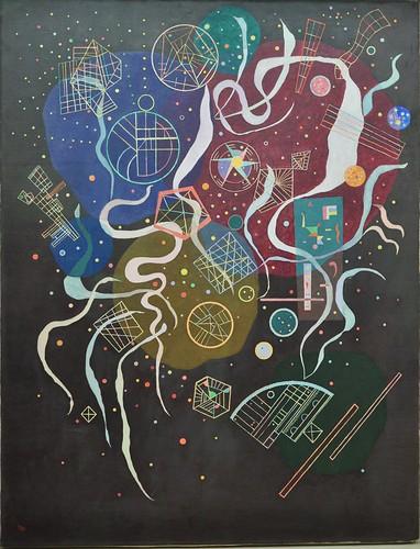 """""""Mouvement I"""", 1935, Exposition """"Kandinsky, les années parisiennes 1933-1944"""", Musée de Grenoble, Grenoble, Rhône-Alpes-Auvergne, France."""