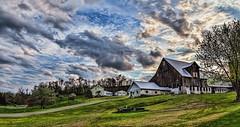 IMG_8350-Ptzl1scTBbLGE (ultravivid imaging) Tags: ultravividimaging ultra vivid imaging ultravivid colorful canon canon5dmk2 clouds sunsetclouds scenic rural fields farm vista evening spring pennsylvania pa barn sunsetlight