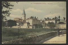 St-Pantaléon (Drôme) - Vue Ouest (Médiathèques Valence Romans agglomération) Tags: village clocher charrette saintpantaléon