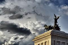 Dramatic Rome (Japo García) Tags: nubes drama cielo caballos dramático gris nublado roma ciudad escultura edificio street japo garcía