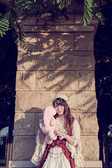 SDF_0355 (SendoFu) Tags: bonnet ボンネット エプロン風スカート blouse bl ブラウス headbow kc カチューシャ bnt 蕾絲 維多利亞 jsk op onepiecedress ワンピース jumperskirt ジャンパースカート nop lolita lolitafashion 蘿莉塔 蘿莉塔時裝 ロリータ・ファッション sweetlolita classicallolita