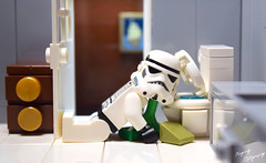 Feeling under the weather (RagingPhotography) Tags: lego star wars stormtrooper empire imperial galactic humor funny laugh bathroom toilet vomit puke house d3300 ragingphotography