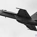 16:9 B&W of @BoeingDefense F/A-18E High Alpha Pass