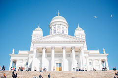 The White Cathedral (freyavev) Tags: cathedral helsinki helsinkicathedral church building architecture neoclassicism stairs people urban square vsco canon canon700d finland capital suomi vappu