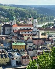 City of Three Rivers from Veste Oberhaus, Passau (Nancy D. Brown) Tags: cityofthreerivers vesteoberhaus passau germany instagram amastella amawaterways danuberiver