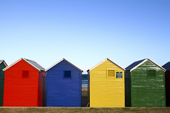 Fish Hoek, South Africa: Rental huts (rocinante11) Tags: fishhoek colorful shed southafrica blue coastal canoneos7d