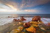 Red, Yellow and Blue (Trace Connolly Photography) Tags: red yellow blue light exposure water sea seascape landscape rock rocks sky cloud rileyrocks yorkepeninsula australia southaustralia colour hiking outdoors longexposure pointriley wallaroo beach beaches canon canon7d sigma sigma1020mm