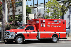 LAFD Ambulance 858 (adelaidefire) Tags: lafd los angeles city fire department ambulance dodge