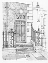 Micklegate House, 88-90 Micklegate, York Service doorway