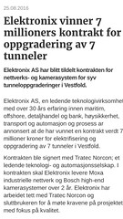Elektronix vinner kontakt for oppgradering av 7 tunneler (Lars Sande) Tags: itsnorge larssande elektronixas norwegiantunnelprojects moxa bosch samsung transportation