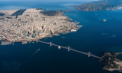 Over San Francisco (mikeSF_) Tags: california sanfrancisco san francisco bay bridge baybridge yerbabuena island ggb goldengate city aerial plane jet commercial air airline marin sausalito k3ii da21 outdoor mikeoria mikeoriaphotography wwwmikeoriacom