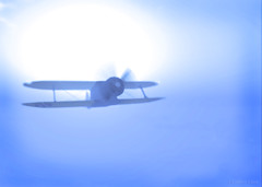 As Vivid as a Dream (labencore) Tags: slaviation aviation plane aircraft airliner secondlife blue dreamy dream prop