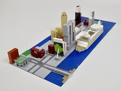 The Wilhelminapier at Rotterdam with cruise ship Harmony of the Seas (jwflier) Tags: lego wilhelminapier rotterdam architecture building foitsop