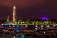 Tour de l'horloge / Montreal Clock Tower (Sammyboy77) Tags: sammyboy77 bassin quai montreal canada boats tour horloge clock tower dock biosphere oldport