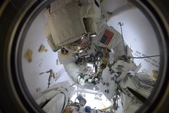 Jack in the airlock (Thomas Pesquet) Tags: spacewalk eva jackfischer peggywhitson iss internationalspacestation