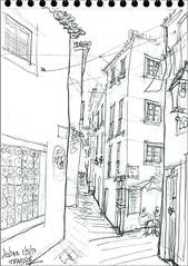 Lisbonne, quartier de l'Alfama (Croctoo) Tags: croctoo croquis croctoofr crayon lisbonne lisboa ville
