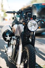 Bike (borishots) Tags: bike bikes motorcycle bokeh bokehlicious bokehwhore analog retro vintage grain black light sun sunlight sunset sunshine sunny tires fujifilm fuji fujinon fujifilmxe1 asahipentaxsupertakumar50mmf14 pentax takumar 50mm f14 wideopen
