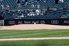 The ball is ready for first pitch. (apardavila) Tags: mlb majorleaguebaseball newyorkyankees yankeestadium yankees yanks ball baseball mound sports