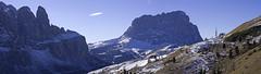 Trekking at Passo Gardena (Twilight Tea) Tags: january 2017 italy kolfuschg colfosco altabadia corvara dolomites dolomiti southtyrol südtirol sassolungo langkofel
