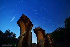 龍騰星軌 (風景獵人) Tags: taiwan 台灣 風景 風景獵人 landscape 苗栗 三義 勝興車站 建築 building 森林 樹木 龍騰斷橋 night startrail star 夜景 夜空 星軌 星空