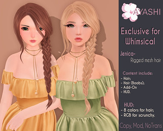 [^.^Ayashi^.^] Jenica hair special for Whimsical