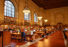 Room 315 (angelsgermain) Tags: library books reading shelves chandeliers windows chairs tables lamps computers ceiling murals rosemainreadingroom mainbranch newyorkpubliclibrary nypl bryantpark fifthavenue manhattan newyorkcity nyc unitedstates usa
