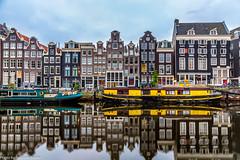Singel (AnBind) Tags: holland niederlande netherlands 2017urlaub amsterdam april noordholland nl grachten spielgelung reflection