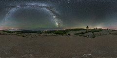 Milky Way over Cadillac Mountain (AaronPriestPhoto) Tags: 360 acadianationalpark barharbor cadillacmountain maine milkyway mountdesertisland newengland airglow astrophotography coast equirectangular landscapeastrophotography mountain night nightphotography nightsky nightscape panorama spherical stars summer unitedstates usa d810 1424mmf28g photopills